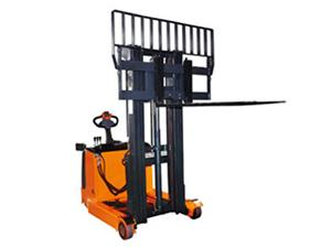 Electric Reach Truck with Wider Fork Carriage or Load Backrest